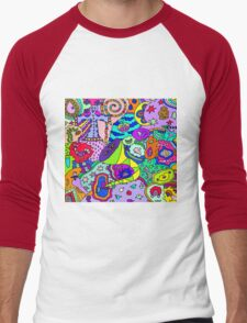 Abstract 13 Men's Baseball ¾ T-Shirt