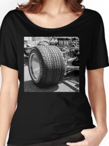 Vintage racing car tire Women's Relaxed Fit T-Shirt