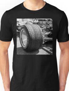Vintage racing car tire Unisex T-Shirt