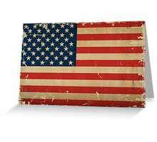 American Flag VINTAGE Greeting Card