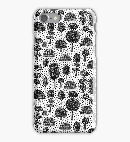 Arboretum 230715 - Black on White iPhone Case/Skin
