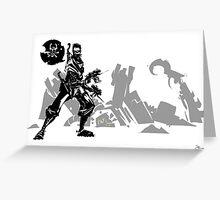 I destroy robots Greeting Card