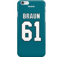 San Jose Sharks Justin Braun Jersey Back Phone Case iPhone Case/Skin