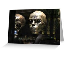 Death Eater Mask Greeting Card