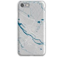 Bremen city map grey colour iPhone Case/Skin