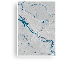 Bremen city map grey colour Canvas Print