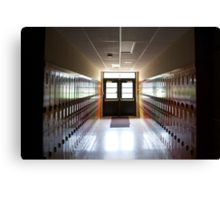 the school's closing Canvas Print