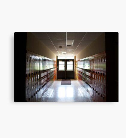 the school's closing Canvas Print