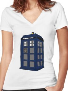 Hill Valley Time Lord Women's Fitted V-Neck T-Shirt