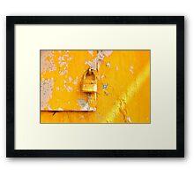 Locked on Yellow Framed Print