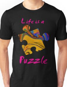 Life is a puzzle, red Unisex T-Shirt