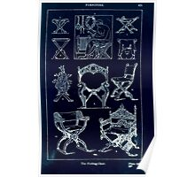 A Handbook Of Ornament With Three Hundred Plates Franz Sales Meyer 1896 0451 Furniture Folding Chair Inverted Poster