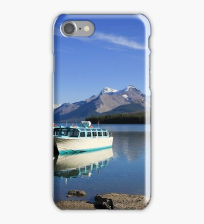Boat and Maligne Lake iPhone Case/Skin