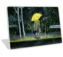 Yellow umbrella part 2 Laptop Skin