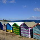 Bathing Boxes - Brighton Beach, Melbourne by BreeDanielle