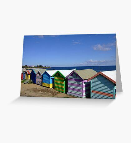 Bathing Boxes - Brighton Beach, Melbourne Greeting Card