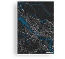 Bremen city map black colour Canvas Print
