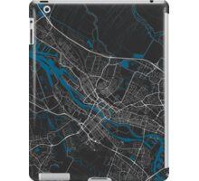 Bremen city map black colour iPad Case/Skin