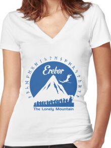 Erebor Women's Fitted V-Neck T-Shirt