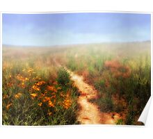 Steppe and flowers. Poster