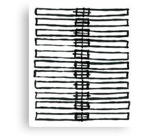 Brush Squares 01 Canvas Print