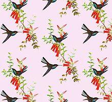 White-tailed Hillstar Hummingbirds by marmur