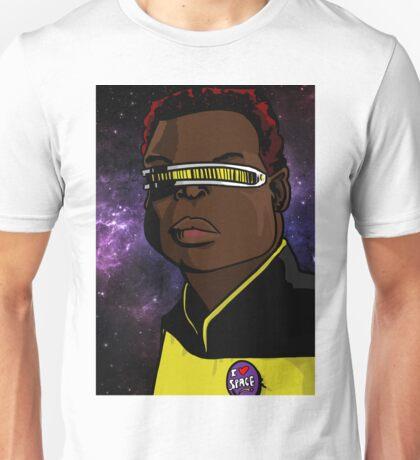 Geordi loves space Unisex T-Shirt