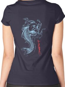 Koi Digital Brush Painting Women's Fitted Scoop T-Shirt