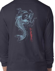 Koi Digital Brush Painting Long Sleeve T-Shirt