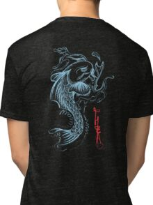 Koi Digital Brush Painting Tri-blend T-Shirt