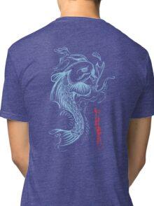 Koi Digital Brush Painting Tri-blend T-Shirt