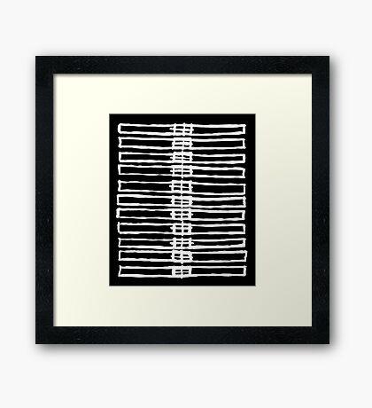 Brush Squares Framed Print