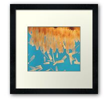 Brush Painted Framed Print