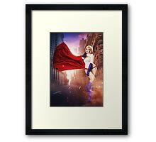 Power Girl Framed Print
