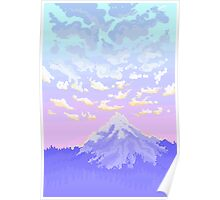 Sunset on Pastel Mountain Poster