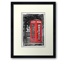 Heritage Trail No1: Red Telephone Box Framed Print