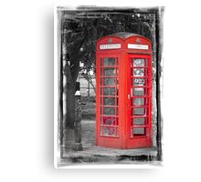 Heritage Trail No1: Red Telephone Box Canvas Print