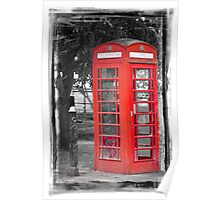 Heritage Trail No1: Red Telephone Box Poster