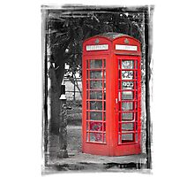 Heritage Trail No1: Red Telephone Box Photographic Print