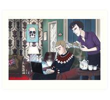 Late Lunch at 221B Baker Street Art Print