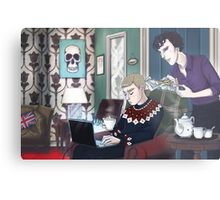 Late Lunch at 221B Baker Street Metal Print