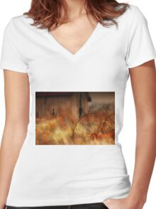 """ Silence is Rusty Conversation "" Women's Fitted V-Neck T-Shirt"