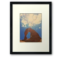 Delicate Arch, Delicate Moment Framed Print