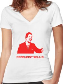 Trololol - Communist Roll'd Women's Fitted V-Neck T-Shirt