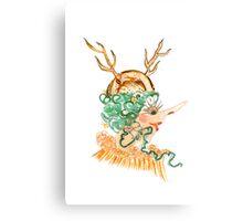 antler hat Canvas Print