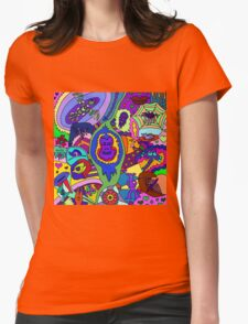 Abstract 18 Womens Fitted T-Shirt