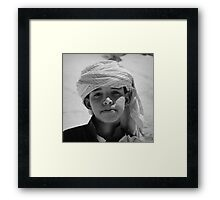 young bedouin Framed Print