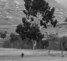 Football Pitch - Lesotho by Phil Rhodes