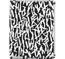 Modern Messy White & Black Paint Brushstrokes iPad Case/Skin