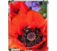 Bee on a poppy iPad Case/Skin